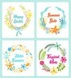 De reeks van leuke hand getrokken uitstekende bloemenplattelander omhult voor uw decoratie vector illustratie