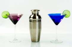 De reeks van martini Royalty-vrije Stock Afbeeldingen