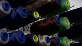 De reeks van de naaimachinedraad stock footage