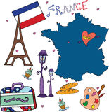 De reeks van nationaal profiel van Frankrijk Stock Fotografie