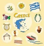 De reeks van nationaal profiel van Griekenland Royalty-vrije Stock Foto
