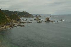 De Reeks van Nice Rotsen in Front Of The Beach Of-Stilte royalty-vrije stock afbeelding