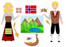 De reeks van Noorwegen Stock Afbeeldingen