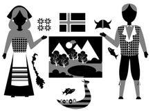 De reeks van Noorwegen Royalty-vrije Stock Afbeelding