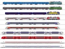De reeks van de passagierstrein royalty-vrije illustratie