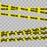 De Reeks van de politielijn, denger stock illustratie