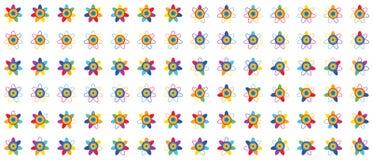 De Reeks van de regenboogbloem royalty-vrije illustratie