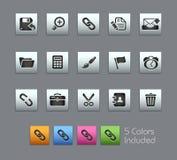De Reeks van // Satinbox van de interface Stock Afbeelding