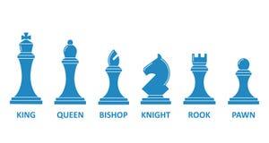 De reeks van de schaakstuknaam vector illustratie