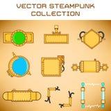 De reeks van Steampunk stock illustratie