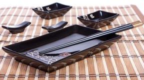 De reeks van sushi stock foto's