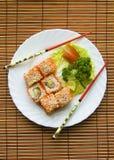De reeks van sushi royalty-vrije stock afbeelding