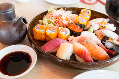 De reeks van sushi royalty-vrije stock fotografie