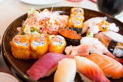 De reeks van sushi Royalty-vrije Stock Afbeeldingen