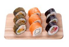 De reeks van sushi Stock Fotografie