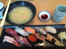 De reeks van sushi Royalty-vrije Stock Foto's
