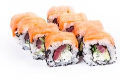 De reeks van sushi. Maki van Osaka. Royalty-vrije Stock Afbeelding
