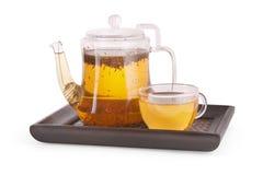 De reeks van Teaware Royalty-vrije Stock Afbeeldingen