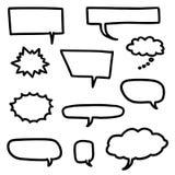 De reeks van de toespraakbel stock illustratie