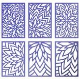 De reeks van Vectorlaser sneed panelen Abstract Patroonmalplaatje voor DE Stock Foto