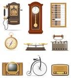 De reeks van veel heeft retro oude uitstekende vector van de pictogrammenvoorraad illustr bezwaar Stock Afbeelding