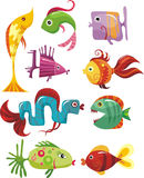 De reeks van vissen Royalty-vrije Stock Afbeelding