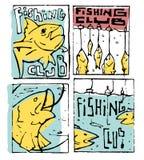 De reeks van de visserijaffiche Royalty-vrije Stock Foto