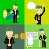 De reeks van zakenman stelt karakterconcepten Stock Afbeelding