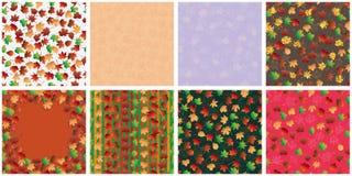 De reeks vastgesteld naadloos patroon van het de herfstblad Royalty-vrije Stock Fotografie