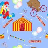 De reeks vectorillustraties op het thema van een circus draagt Royalty-vrije Stock Fotografie