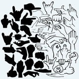 De reeks velen dient verschillende fasen in vector illustratie