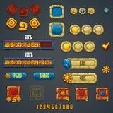 De reeks verschillende elementen en de symbolen voor Webontwerp en verwerken gegevens Royalty-vrije Stock Afbeeldingen