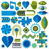 De reeks verschillende modernistic vectorsymbolen kan in corpo worden gebruikt vector illustratie