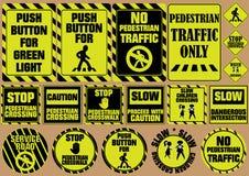 De reeks voetgangersoversteekplaatsverkeersteken, kan gebruik voor verkeersteken zijn Stock Illustratie