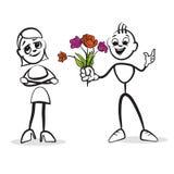 De reeksemoties van het stokcijfer - de Dag van Valentine ` s vector illustratie