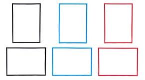 De Reeksen van het frame in Drie Kleuren Stock Fotografie