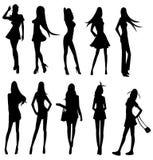 De reeksen van sexy meisjestroep, leiden tot door vector Stock Afbeelding