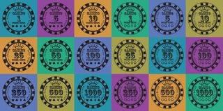 De reekszwarte van pookspaanders op kleur Stock Afbeelding