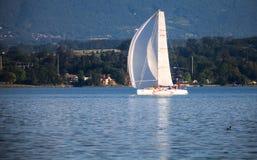 De regatta van de Zeilboot van Rolex Bol d'Or, Meer Genève Stock Fotografie