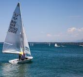De regatta van de Zeilboot van Rolex Bol d'Or, Meer Genève Royalty-vrije Stock Foto