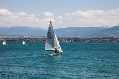 De regatta van de Zeilboot van Rolex Bol d'Or, Meer Genève Royalty-vrije Stock Afbeelding