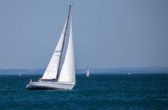 De regatta van de Zeilboot van Rolex Bol d'Or, Meer Genève Stock Afbeelding