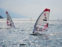 De regatta van Windsurfing Stock Fotografie