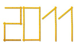 De regel van de timmerman kijkt als 2011 Royalty-vrije Stock Afbeeldingen