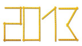 De regel van de timmerman kijkt als 2013. Stock Foto's