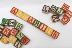 De regeling van brieven vormt één woord, versie 35 Stock Foto