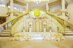 De Regeling van de bloemboog bij Huwelijk Royalty-vrije Stock Afbeeldingen