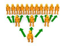 De Regeling van de piramide Royalty-vrije Stock Afbeelding