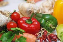 De regeling van groenten stock afbeelding