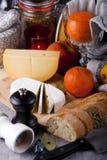 De regeling van het ontbijt Stock Afbeeldingen
